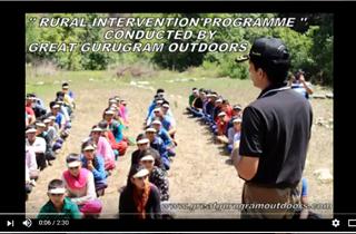 RURAL INTERVENTION ( OUTDOOR ADVENTURE) @Great Gurugram Outdoors Pvt Ltd